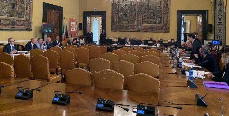 La sala consiglio  - incontro del 2019