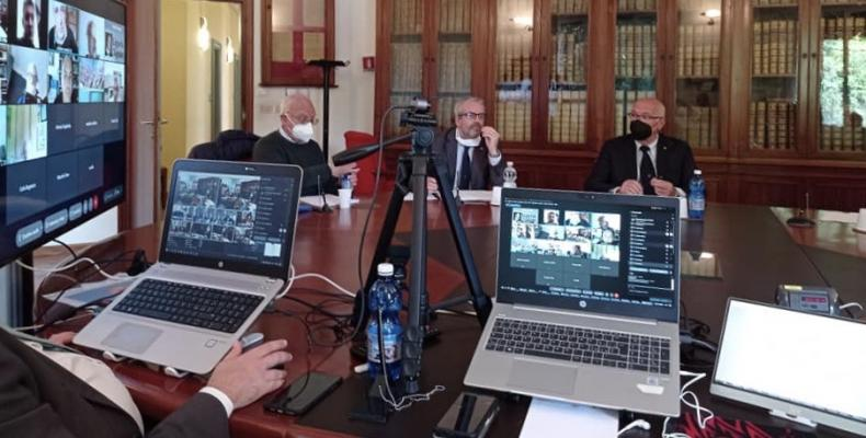 un momento della seduta del 26 maggio 2021 in videoconferenza