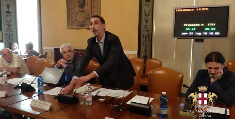 Simone Franceschi in Consiglio Metropolitano 31/07/2019