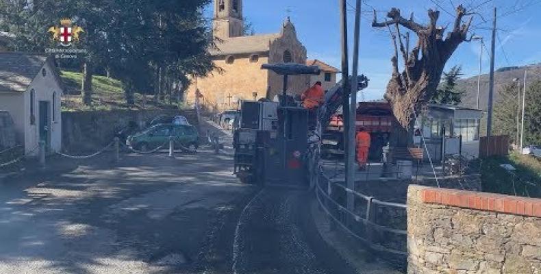 Cantieri stradali sulle SP 333 di Recco, SP 71 di Sori e SP 43 della Valpolcevera