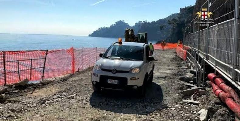SP227 di Portofino lavori in anticipo su tabella di marcia