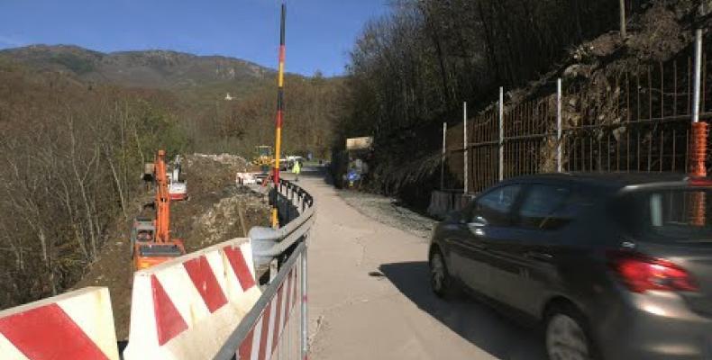 I cantieri sulle provinciali non si fermano:  riaperta con limitazioni la 586 di S.Stefano d'Aveto