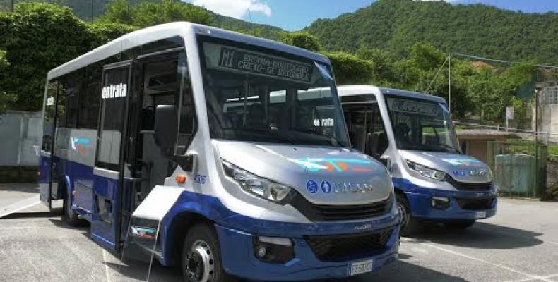 Presentati a Montoggio due nuovi Bus ATP per la Valle Scrivia. Ritorna il Bike Bus nel Parco dell'Antola.