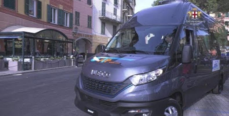 """Presentato il nuovo bus elettrico """"genovese"""" di Iveco"""