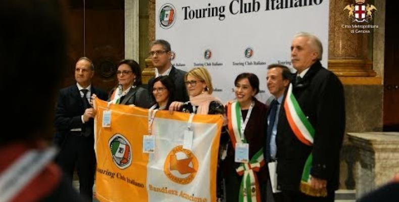 Premiazione nazionale a Palazzo Ducale, da parte del Touring Club, dei piccoli borghi dell'entroterra