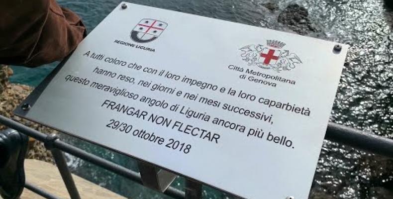 "SP 227 ""Frangar non Flectar, una targa per ricordare la mareggiata"