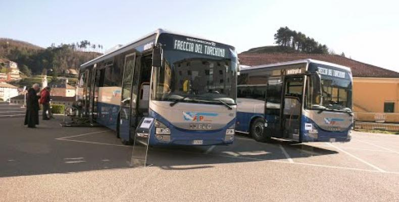 Nuovi bus per la Valle Stura presentata la Freccia del Turchino