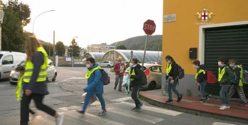 A Sarissola mobilità sostenibile, sicura e divertente con il Pedibus