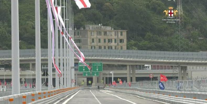 3 Agosto 2020: i consiglieri metropolitani salutano il nuovo ponte Genova San Giorgio