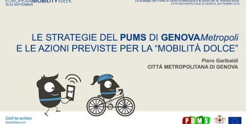 """Le strategie del PUMS e le azioni per la """"mobilità dolce"""""""