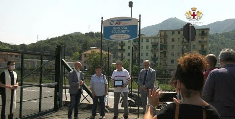 Intitolato a Daniele Ressi il nuovo deposito ATP in Valpolcevera