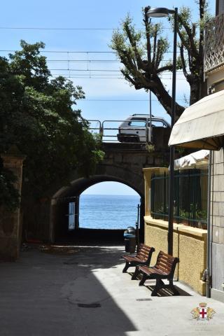 Lavagna, frazione Cavi Borgo, accesso alla spiaggia