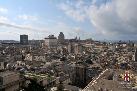 Genova, panorama da Spianata Castelletto