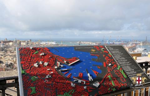 Genova, Spianata Castelletto, panorama