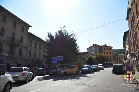 Busalla, via Roma, vista