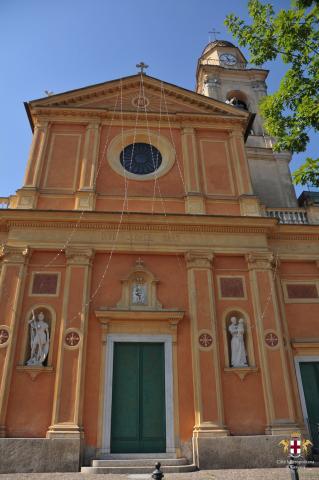 Busalla, chiesa di S. Giorgio, facciata