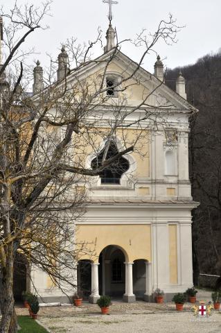 Tre Fontane, Santuario di S. Maria, facciata