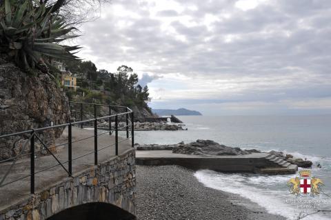 Zoagli, passeggiata a mare lato ponente