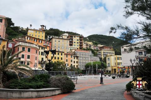 Zoagli, piazza XXVII dicembre e borgo