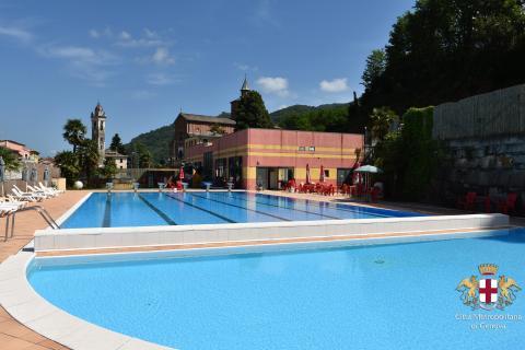 Cicagna, piscina comunale