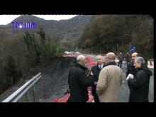 Visita di Marco Doria in Val Fontanabuona dopo l'alluvione