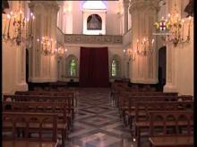 Il Santuario è situato nella località di Tre Fontane lungo la strada provinciale 13 tra Montoggio e Creto