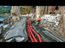SP227 di Portofino: lavori al via, già iniziata la posa della linea vita