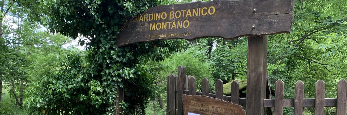 L'ingresso del giardino botanico di Pratorondanino