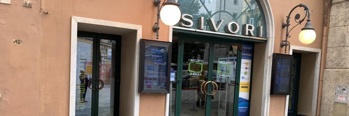 Sala cinematografica Sivori, ubicata in Genova – Salita di Santa Caterina civico 54R – piano S1 – T
