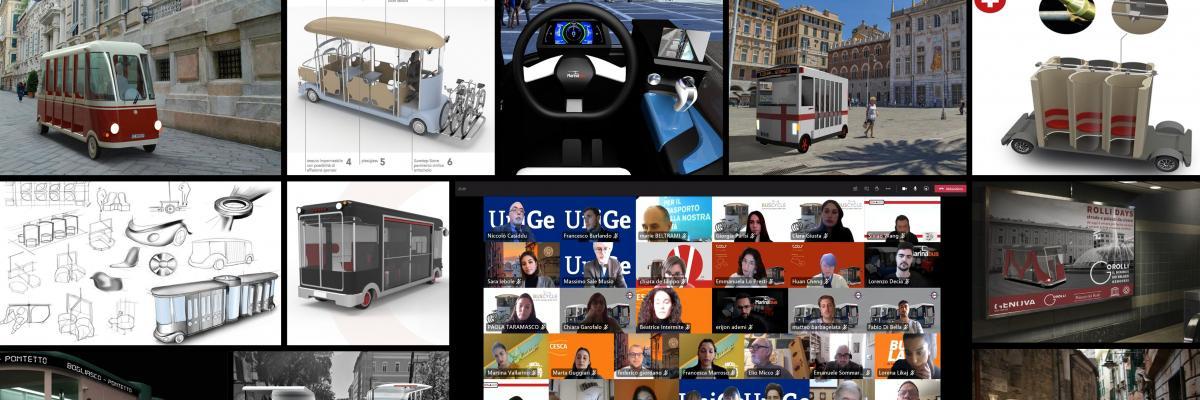 Collage di immagini relative alla micro mobilità