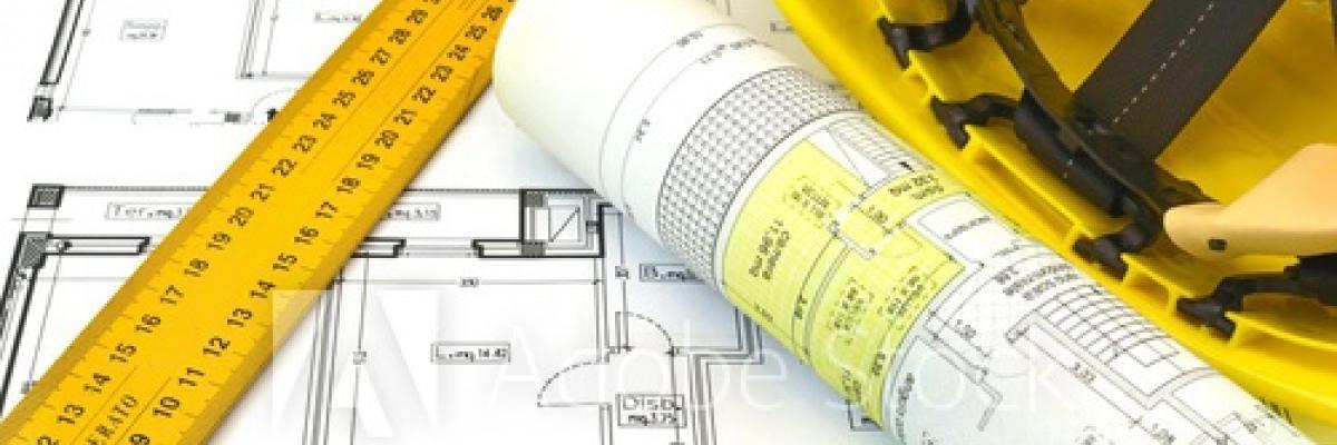 Immagine decorativa rappresentante planimetrie e progetti